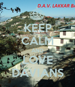 KEEP CALM AND LOVE DAVIANS - Personalised Poster large