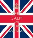 KEEP CALM AND Love David xx - Personalised Poster large