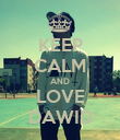 KEEP CALM AND LOVE DAWID - Personalised Poster large