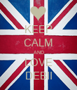 KEEP CALM AND LOVE DEBII - Personalised Poster large