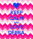 KEEP CALM AND LOVE DEBRA - Personalised Poster large