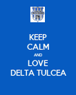 KEEP CALM AND LOVE DELTA TULCEA - Personalised Poster large