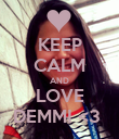 KEEP CALM AND LOVE DEMMI <3  - Personalised Poster large