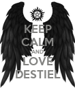 KEEP CALM AND LOVE DESTIEL - Personalised Poster large