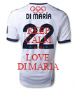 KEEP CALM AND LOVE  DI MARIA - Personalised Poster large