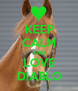 KEEP CALM AND LOVE DIABLO - Personalised Poster small