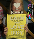 KEEP CALM AND LOVE DIDY - Personalised Poster large