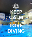 KEEP CALM AND LOVE DIVING - Personalised Poster large