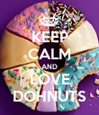 KEEP CALM AND LOVE DOHNUTS - Personalised Poster large