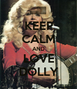 KEEP CALM AND LOVE DOLLY - Personalised Poster large