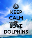 KEEP CALM AND LOVE DOLPHINS - Personalised Poster large
