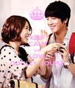 KEEP CALM AND LOVE DOOLEY COUPLE - Personalised Poster large