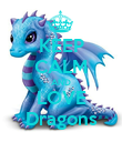 KEEP CALM AND LOVE Dragons - Personalised Poster large