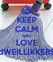 KEEP CALM AND LOVE dWEILLIKKERS - Personalised Poster large