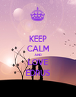 KEEP CALM AND LOVE EDRUS - Personalised Poster large