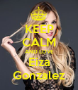 KEEP CALM AND LOVE Eiza Gonzalez - Personalised Poster large
