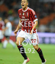 KEEP CALM AND LOVE EL92 - Personalised Poster large
