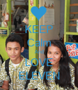 KEEP Calm And LOVE ELEVEN - Personalised Poster large