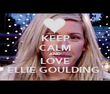 KEEP CALM AND LOVE ELLIE GOULDING  - Personalised Poster large