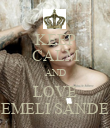 KEEP CALM AND LOVE EMELI SANDE - Personalised Poster large