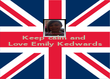 Keep calm and  Love Emily Kedwards    - Personalised Poster large