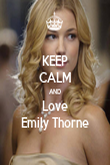 KEEP CALM AND Love Emily Thorne - Personalised Poster large