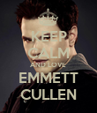 KEEP CALM AND LOVE  EMMETT CULLEN - Personalised Poster large
