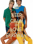 KEEP CALM AND LOVE  ERREWAY - Personalised Poster large