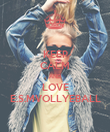 KEEP CALM AND LOVE E.S.MVOLLYEBALL - Personalised Poster large
