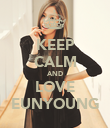 KEEP CALM AND LOVE EUNYOUNG - Personalised Poster small