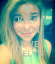 KEEP CALM AND LOVE EVELYN - Personalised Poster large