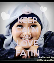 KEEP CALM AND LOVE FATIN - Personalised Poster large