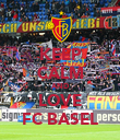 KEEP CALM AND LOVE FC BASEL - Personalised Poster large