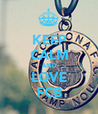 KEEP CALM AND LOVE FCB - Personalised Poster large