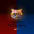 KEEP CALM AND Love  FCBarcelona - Personalised Poster large