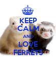 KEEP CALM AND LOVE FERRETS - Personalised Poster large
