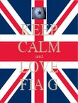 KEEP CALM and LOVE FIA G - Personalised Poster large