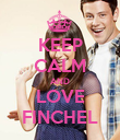 KEEP CALM AND LOVE FINCHEL - Personalised Poster large