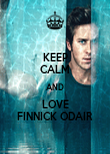 KEEP CALM AND LOVE FINNICK ODAIR - Personalised Poster large