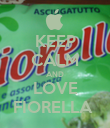 KEEP CALM AND LOVE FIORELLA  - Personalised Poster large