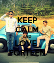 KEEP CALM AND LOVE  FORTEEN - Personalised Poster large