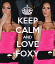 KEEP CALM AND LOVE FOXY - Personalised Poster large
