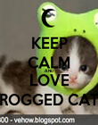 KEEP CALM AND LOVE FROGGED CATS - Personalised Poster large