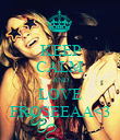 KEEP CALM AND LOVE FROSEEAA<3 - Personalised Poster large