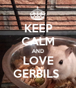 KEEP CALM AND LOVE GERBILS  - Personalised Poster small