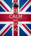 KEEP CALM AND LOVE GG! - Personalised Poster large