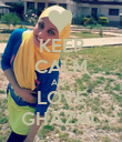 KEEP CALM AND LOVE GHAZAL - Personalised Poster large