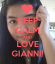 KEEP CALM AND LOVE GIANNI! - Personalised Poster small