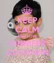 KEEP CALM AND LOVE GINNIFER GOODWIN - Personalised Poster large