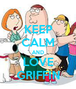 KEEP CALM AND LOVE GRIFFIN - Personalised Poster large